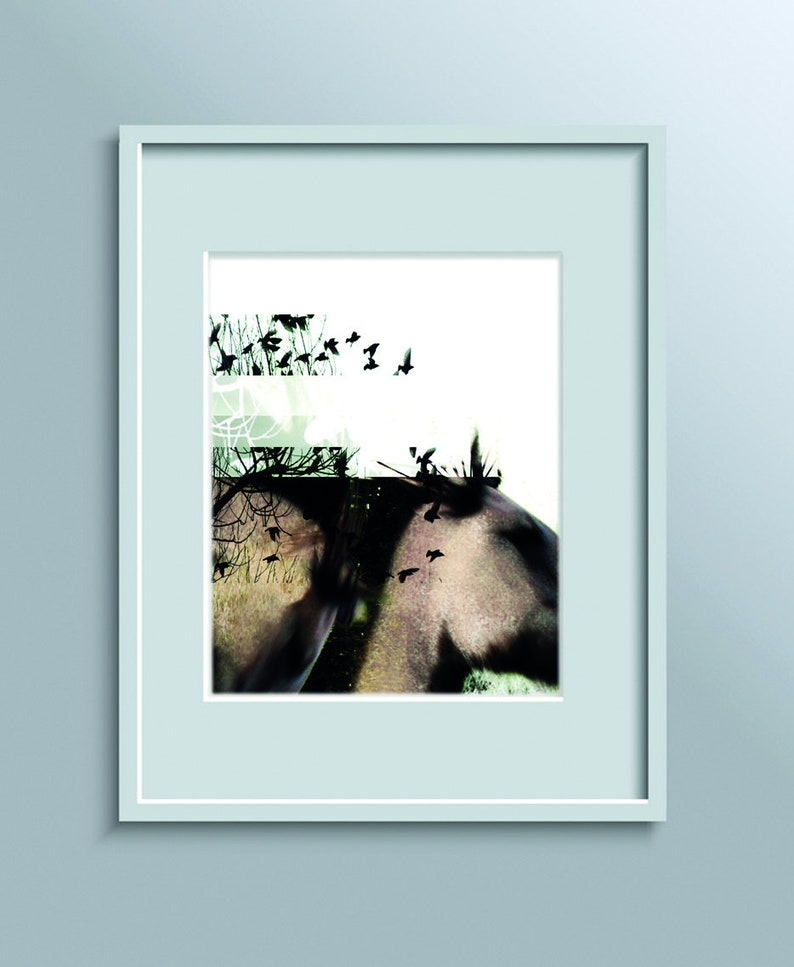 A3 digital prints. Framed and ready to go. Horse / Stag / image 0