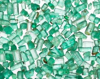High Quality Raw Emerald Pieces, Panjshir Valley Emerald, Rough Emerald, Raw Gemstones, May Birthstone, Natural Emerald Crystals, EMSCOOP006