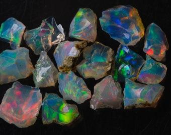 chips OCB 183 Natural Ethiopian opal uncut chips strands