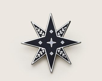 cfd14c82916 Lucky Star Pin | Silver| Hard enamel pins | Small gift | Gift for her |  Gift for him | Pin badge | Lapel Pin