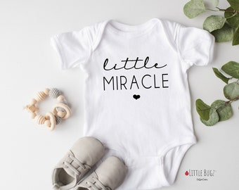 Pregnancy Announcement Infertility Announcement Onesie IVF Baby Miracle Onesie I/'m proof that miracles happen