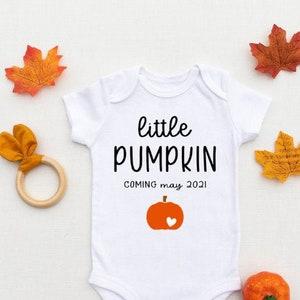 Little Pumpkin Due Date Onesie® halloween pregnancy