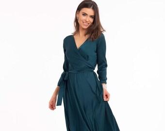 2f5c545d2d5 Dark Green Bridesmaid Dress