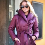 Down Coat,Long Extra Warm Coat,Puffer Coat,Maxi Coat,Blanket Winter Coat,Burgundy Coat,Womens Jackets,Winter Clothing,Wrap Padded Coat, #050