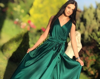 ab7d6b162b39 Green Bohemian Silk Dress