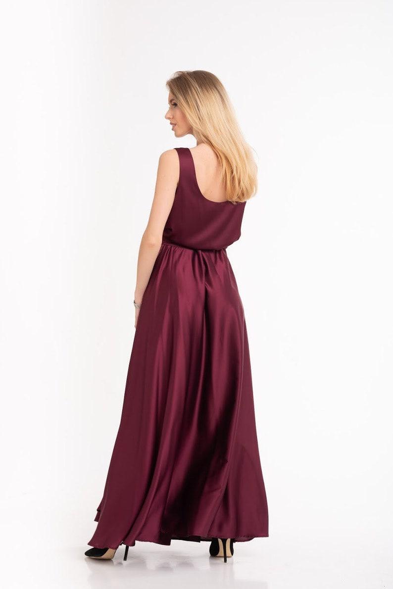 Boho Gown Bridesmaid Maxi Dress Engagement Dress Boho Wedding Dress Maternity Gown Bohemian Silk Dress Infinity Wrap Dress #006