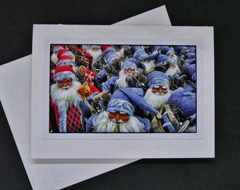 Santa photo art Christmas card