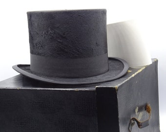 Antique Edwardian Beaver Top Hat 21 Inches