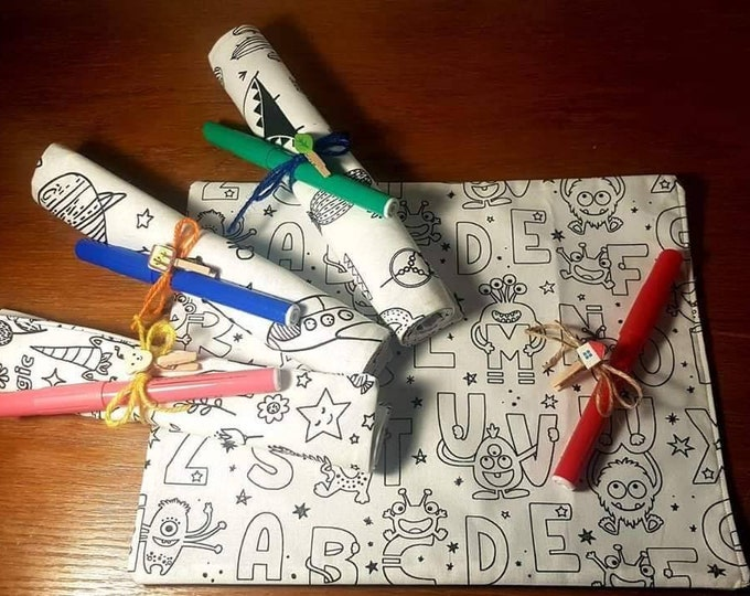 Washable coloring sheet