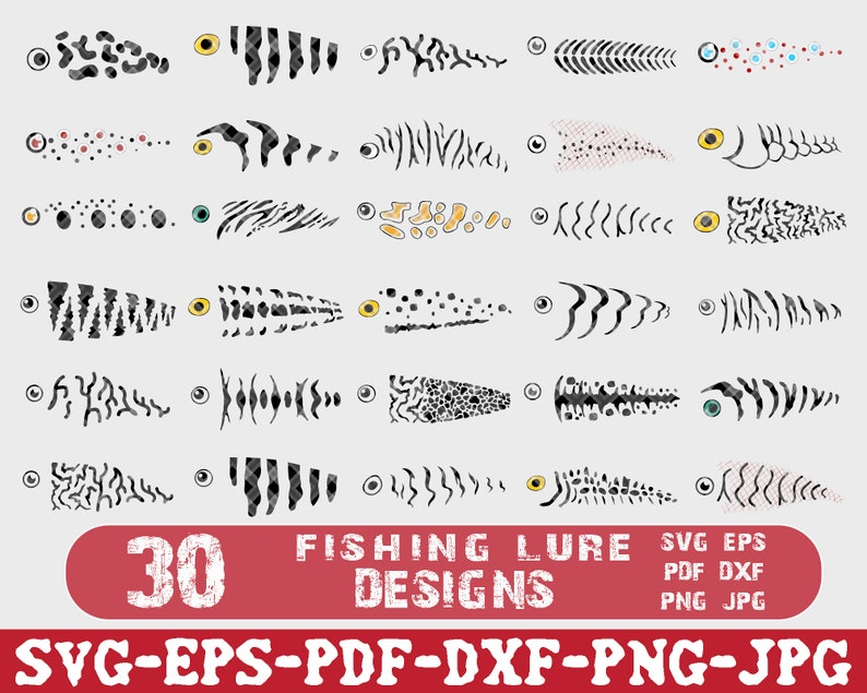 Download Pdf Fishing Lure Svg Bundle Svg Cut Files For Silhouette Cameo Dxf Fish Clipart Lure Svg Print Png Eps Svg Clipart For Crafters Clip Art Art Collectibles Lifepharmafze Com