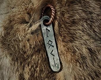 Hand Forged Loki Rune Viking  Pendant
