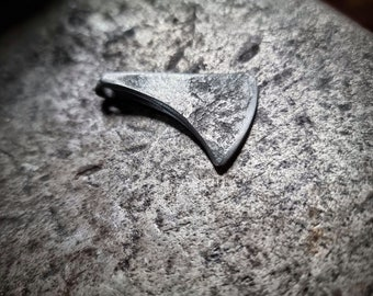 Hand forged viking axe pendant