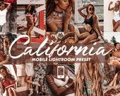 4 Mobile Lightroom Presets CALIFORNIA Lightroom Mobile Presets Social Media Presets, Beach Presets, Tan Presets