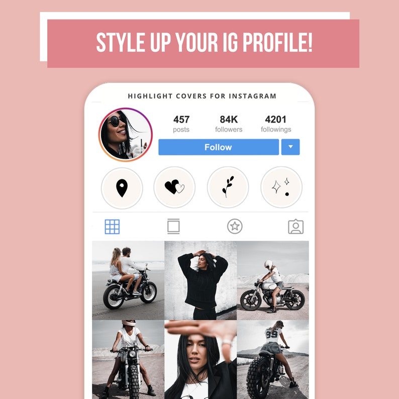 Cozy Instagram Story Highlight Trendy Pink Abstract IG Icons image 3