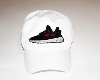 9d44ad04 Yeezy Boost Dad Hat, Embroidered Dad Hat • Your Choice of Cap Color With  Patch • Adjustable Strap Back