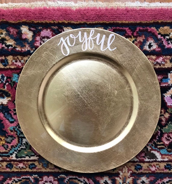 Joyful Gold Charger Plate
