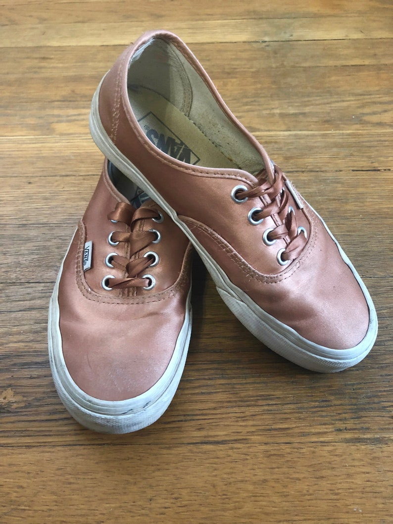 fb930898e26e21 Vans Sneakers Rose Gold Pink Satin Women s Size 6.5 6 or