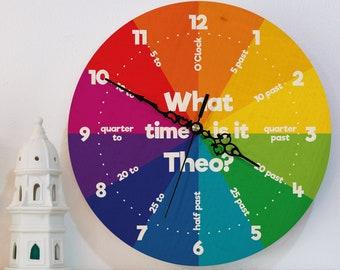 Children wall clock   Etsy
