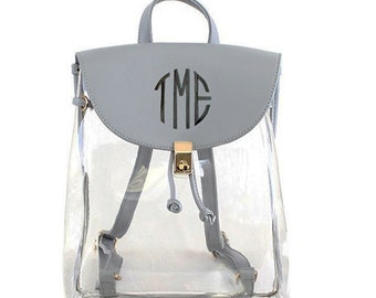personalized Clear Backpack b9e9e801d1868
