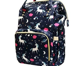 7877e16551ff Personalized Unicorn Diaper Bag Backpack