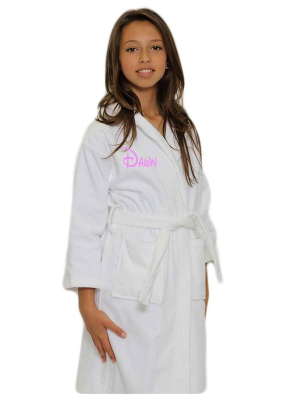 adc94a2c5d Kids Terry Velour Hooded Robe-Terry bathrobes-Monogram personalized  bathrobes-Robes-Hooded terry bathrobe