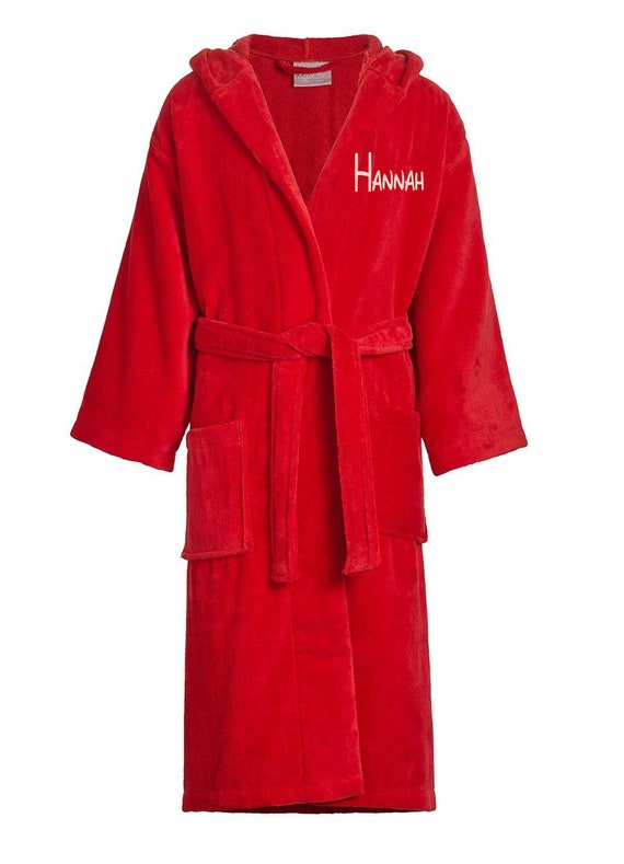 childs Terry Velour Hooded Robe-Terry bathrobes-Monogram personalized  bathrobes-Robes-Hooded terry bathrobe 863e4b493