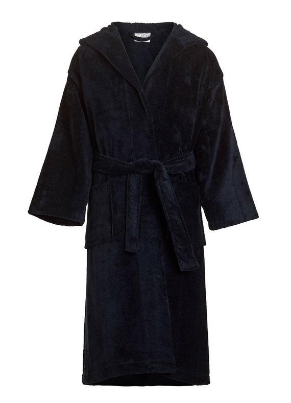 28cb24b0da Child s black Terry Velour Hooded Robe-Boy s Terry
