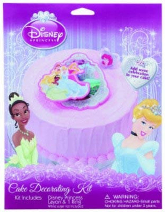 Fine Disney Princess Birthday Cake Kit Plastic Cake And Cupcake Etsy Funny Birthday Cards Online Bapapcheapnameinfo