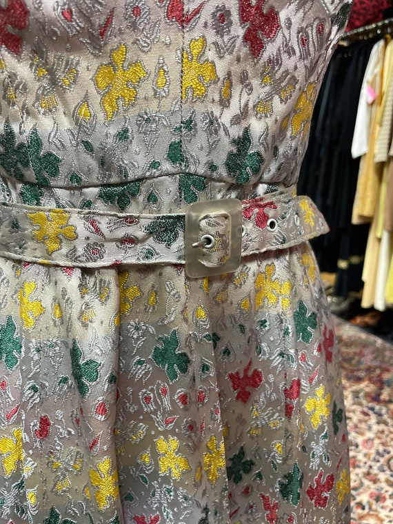 50s cocktail dress with matching bolero and belt - image 8