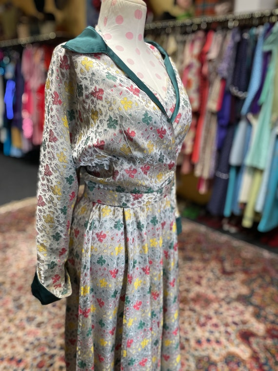 50s cocktail dress with matching bolero and belt - image 3