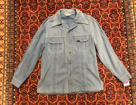 70s light blue soft denim jacket by Lee