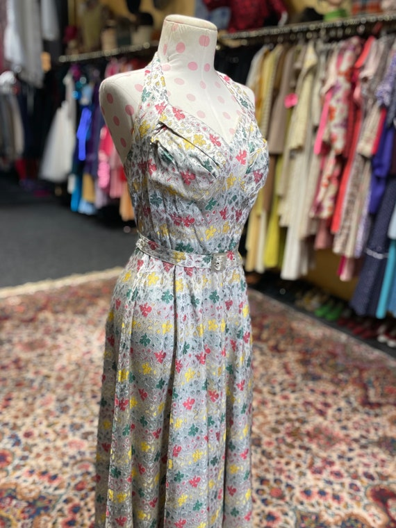 50s cocktail dress with matching bolero and belt - image 5