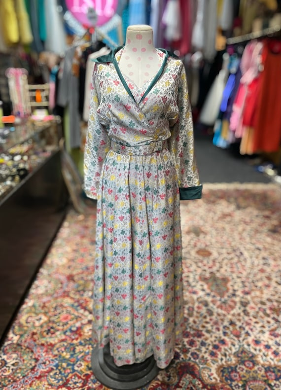 50s cocktail dress with matching bolero and belt - image 2
