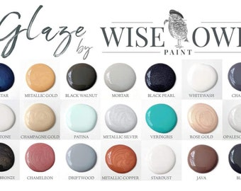 Sample 2oz Glazes by Wise Owl Paint!! Same day Shipping!