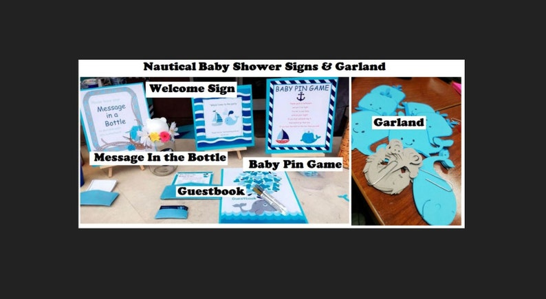 Nautical Theme Baby Shower Package