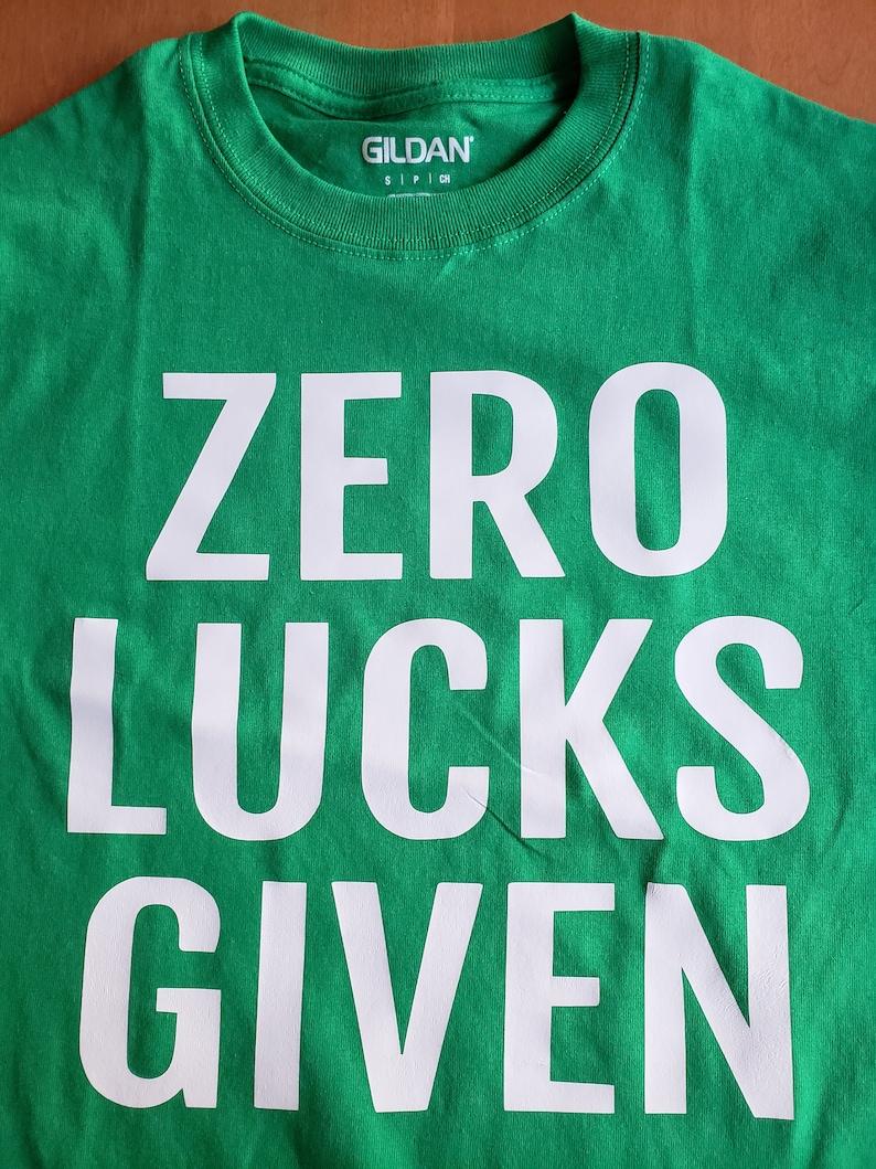 PUSHING BLACK Zero Lucks Given Unisex Sweatshirt