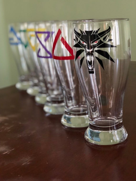 Glass Pint Tankard With Witcher Inspired Design