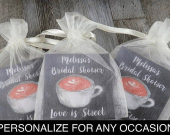 6d2f8802732 Tea Favors Personalized & Fully Assembled - ANY OCCASION - Wedding Tea Favor  - Tea Party - Bridal Shower - Vintage Cup Design -tf