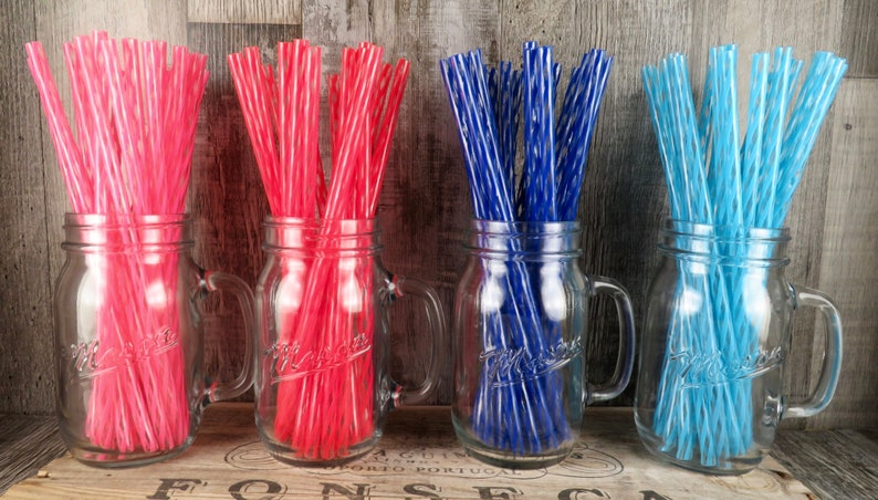 Reusable BPA Free Plastic Straws - Choose Your Color-100 Straws-DIY Mason  Jar Commuter Cup-Eco Friendly Reusable Straws-Quantity Discount