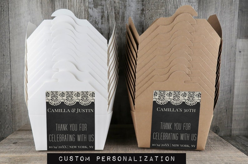 TB 24 Event Take Away Boxes IL To Go Box Personalized Wedding Cake Take Out Boxes Donut Box Cake Boxes Vintage Ivory Lace