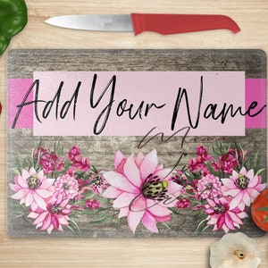 Black Rose on Vintage Wood add your own text  *Cutting Board instant Digital Design Template sublimation