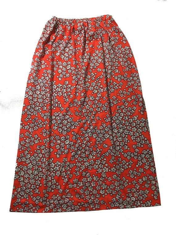 Vintage Jantzen Swimwear Maxi Skirt Cover-up Skir… - image 1