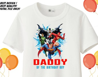 Justice League Iron On Transfer Shirt Dad Birthday Printable