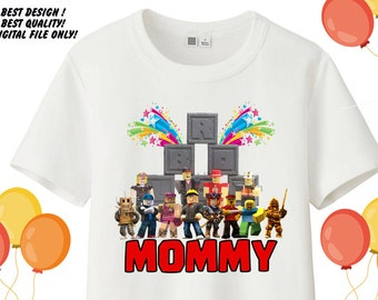 18d7977e63 Roblox Iron on Transfer Shirt, Roblox Mommy Shirt, Roblox Birthday  Printable, Roblox Iron on Transfer