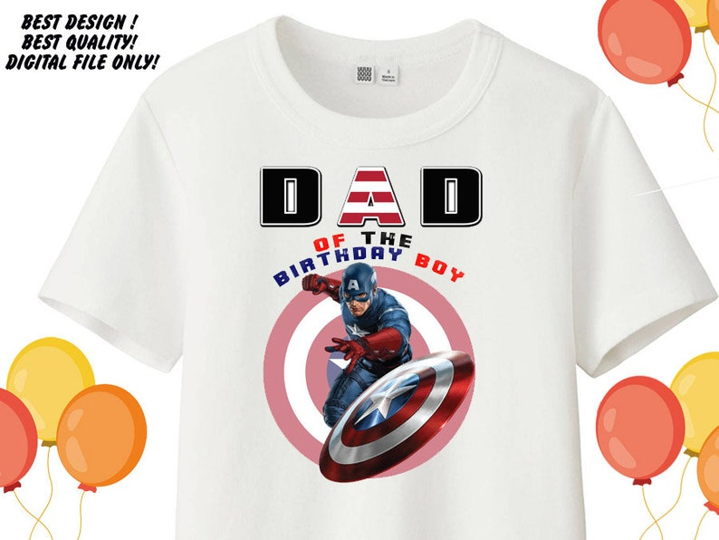 Captain America Printable Captain America Iron on Transfer Shirt Captain America Daddy Shirt Captain America Iron on Transfer