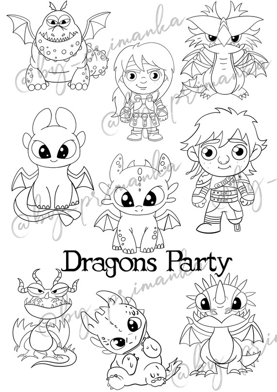- Personalized Coloring Page Httyd Toothless Light Fury Stormfly Etsy