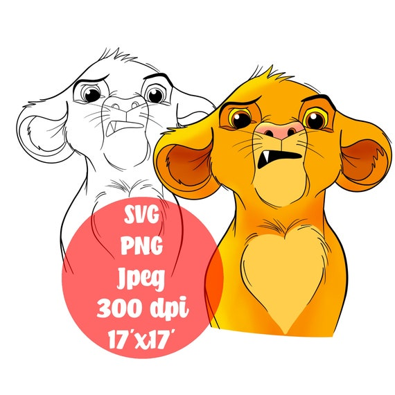 Simba Svg Png The Lion King Digital Svg Clipart Free Etsy
