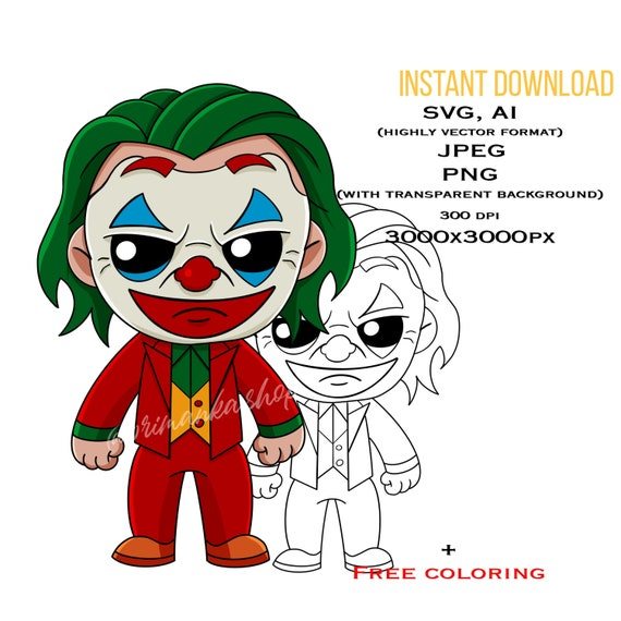 Baby New Joker Svg Layered The Joker Movie Poster Print Etsy