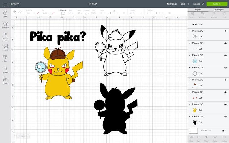 SVG Pokemon Detective Pikachu FREE coloring. Instant | Etsy
