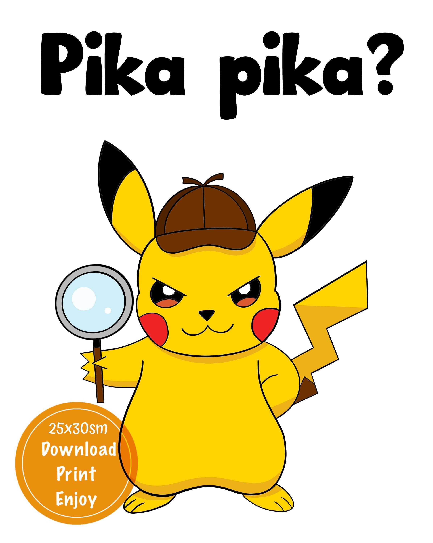 Svg Pokemon Detective Pikachu Free Coloring Instant Download Printable Art